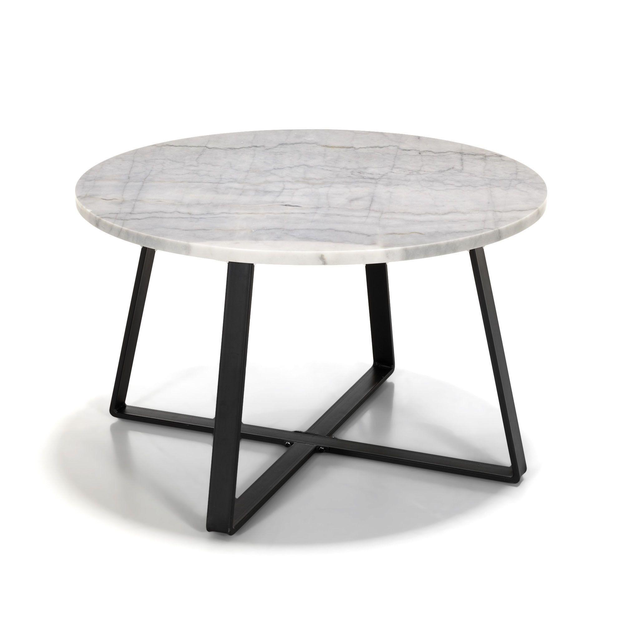 Table basse galet marbre