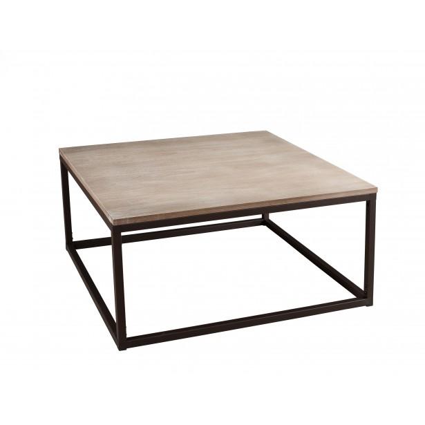 Table basse carrée metal