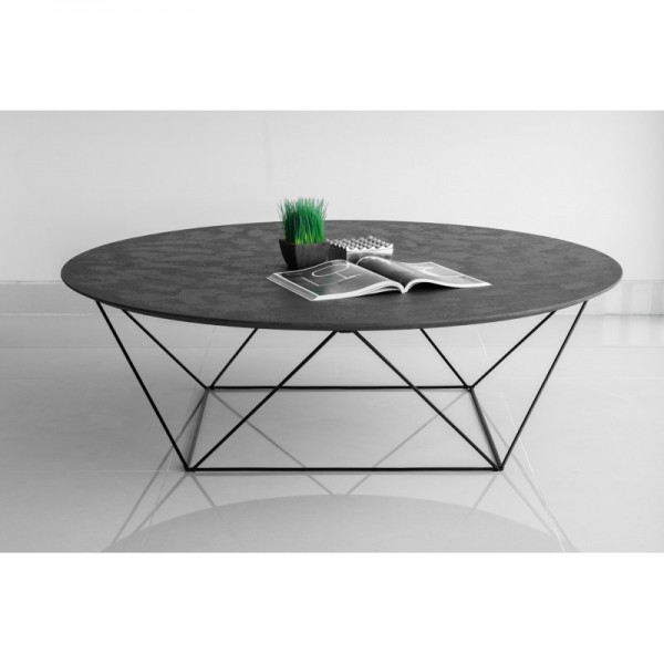 Table basse ovale industrielle