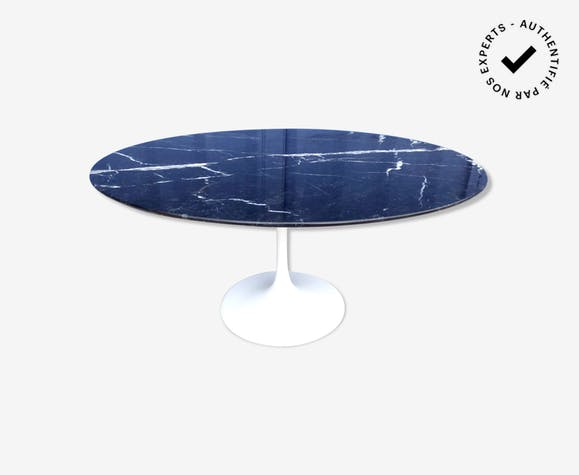 Table basse knoll marbre noir