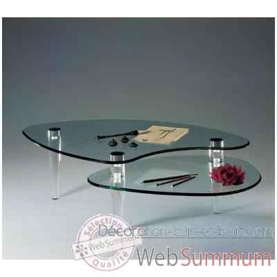 Table basse en verre marais
