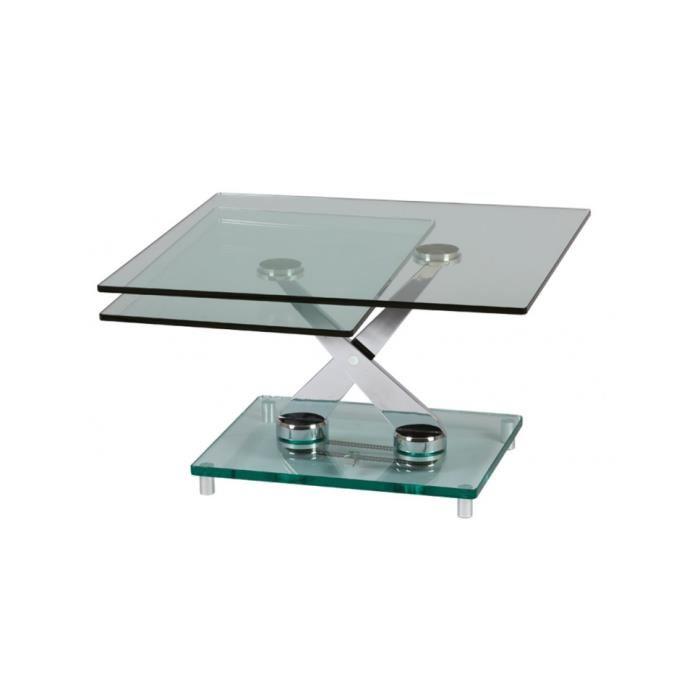 Table basse en verre moderne