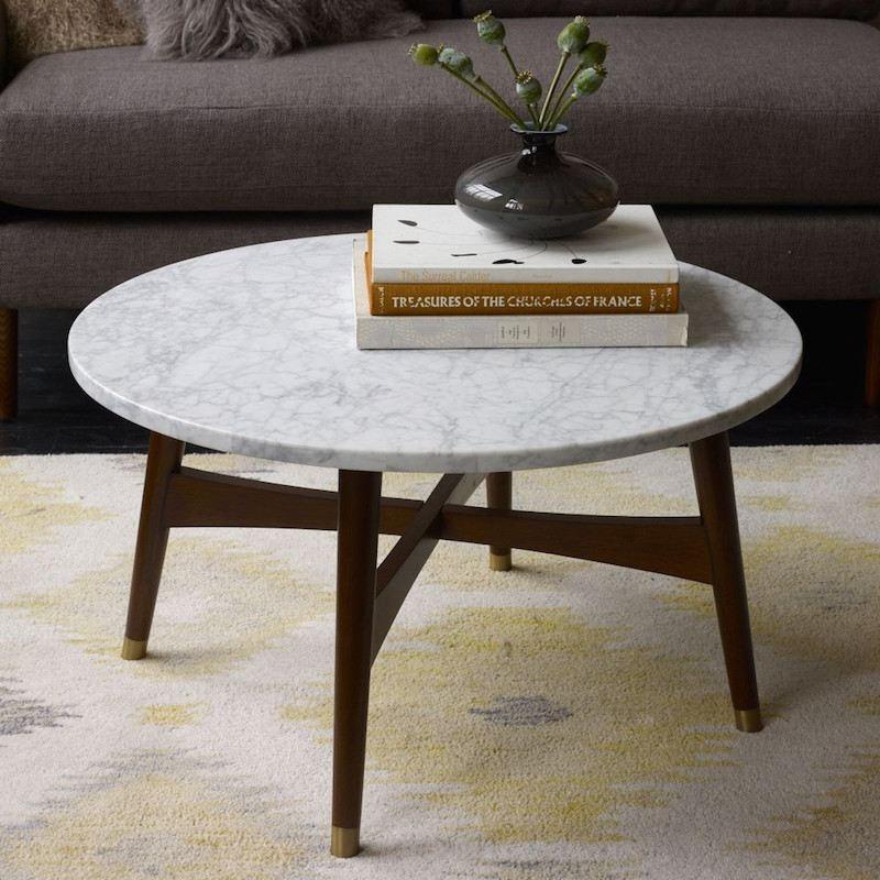 Table basse béate-marmora plateau marbre