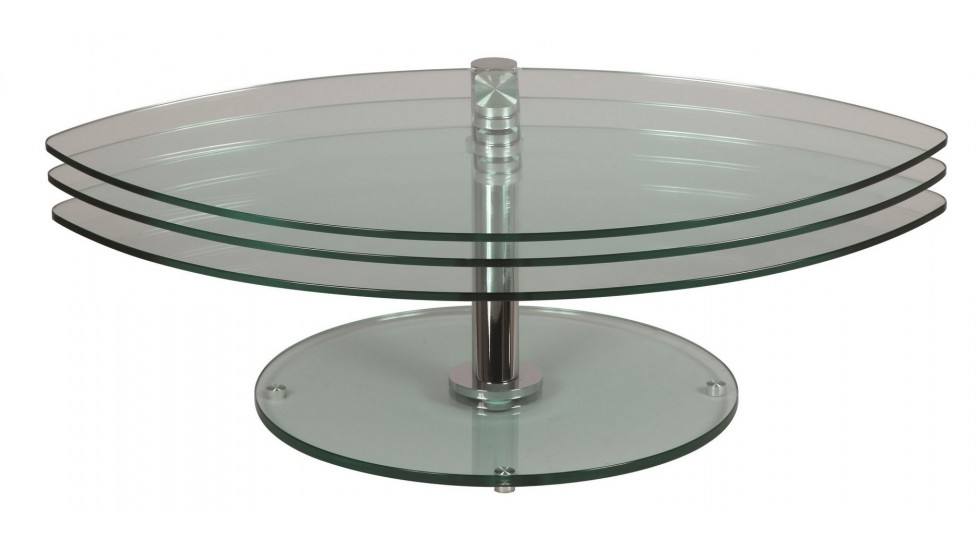 Table basse en verre 3 plateaux joko
