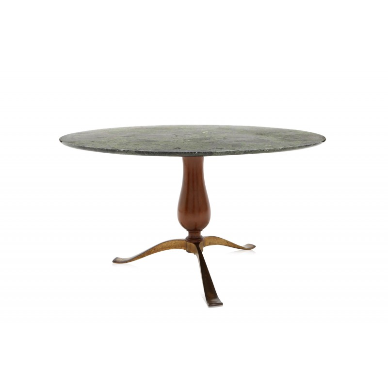 Table basse marbre noyer