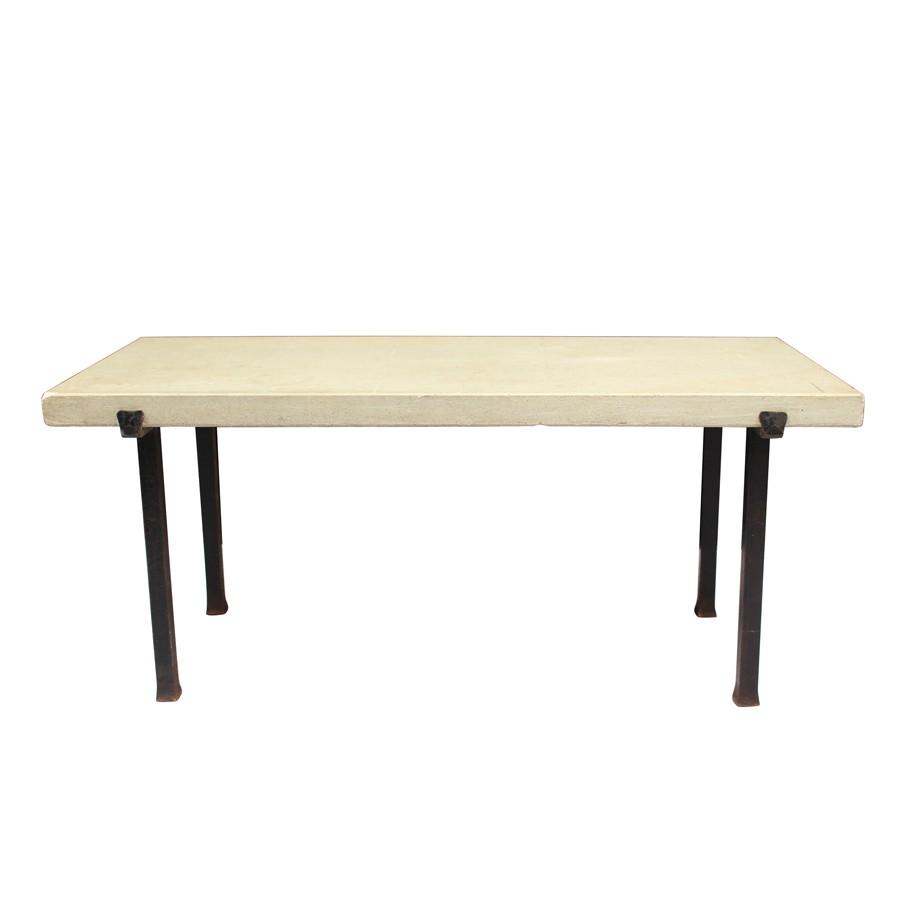 Table basse vintage fer forgé