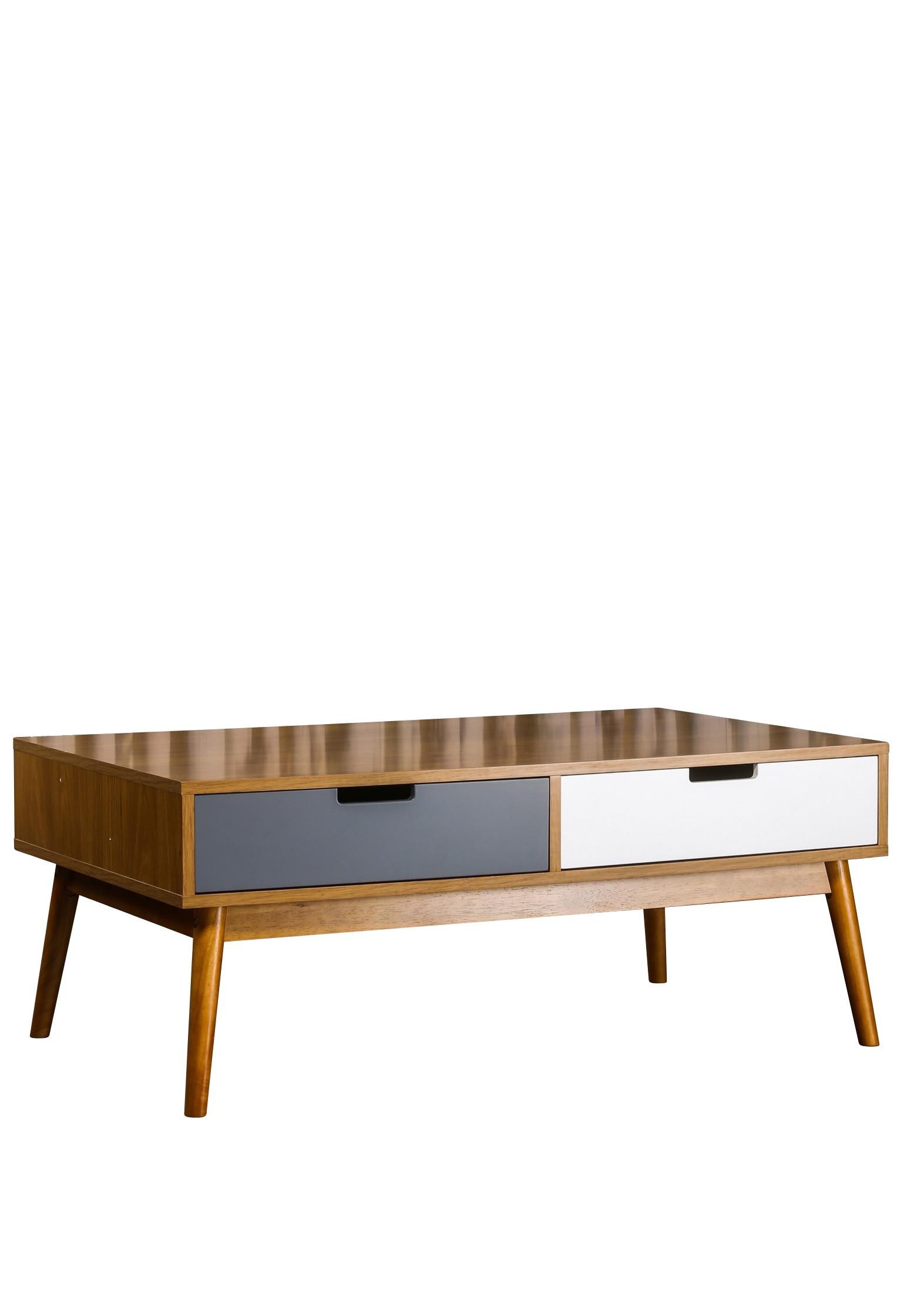 Table basse vintage double plateau quilda