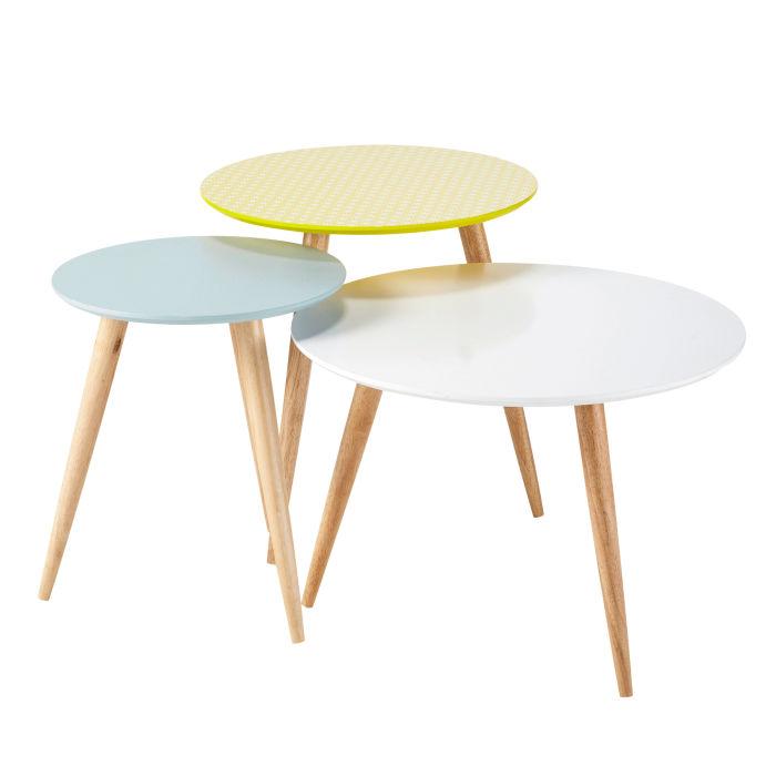Table basse gigogne de couleur