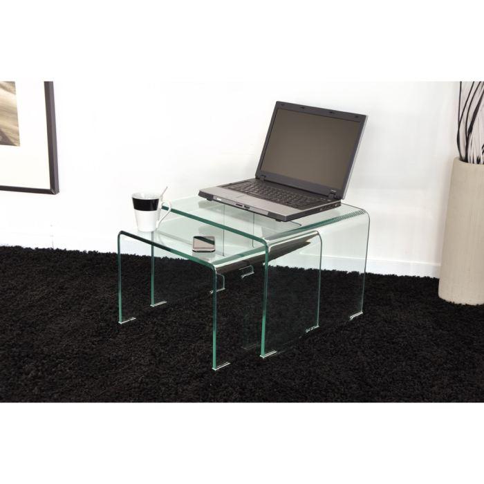 Vera table basse en verre courbé 110 x 55 cm